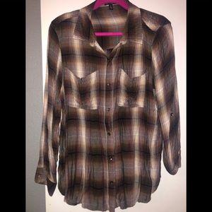 Jessica Simpson Plus size flannel button down